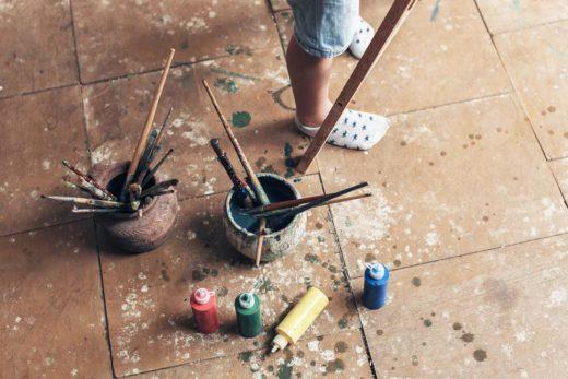 Bodenfliesen-lackieren
