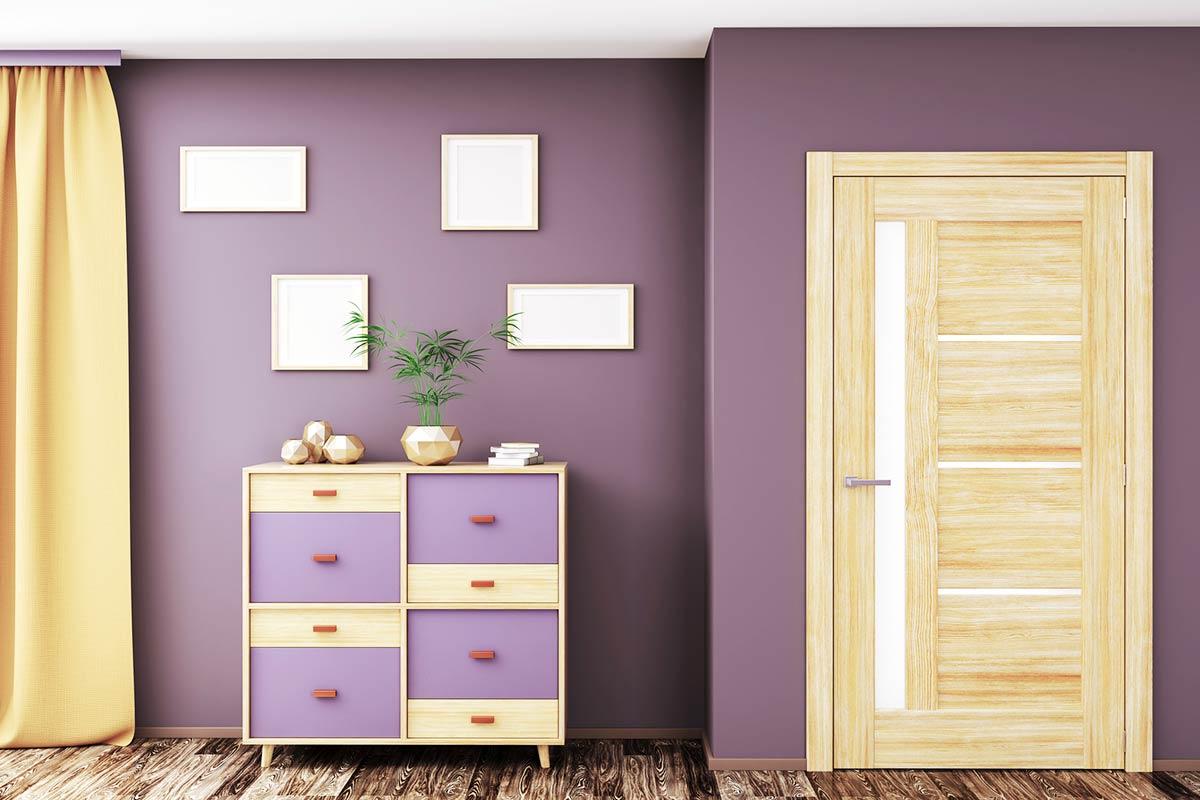 Violett-Wandfarbe