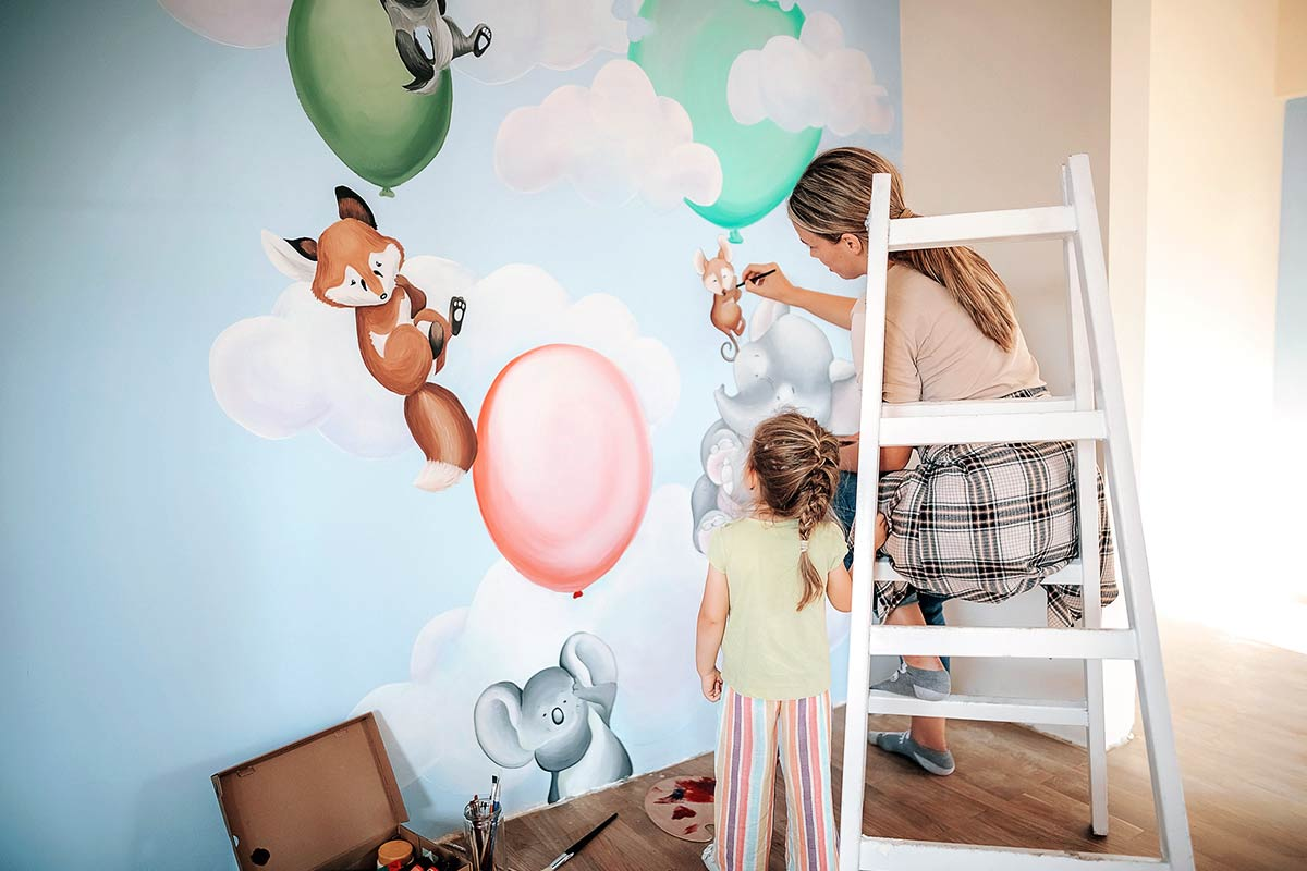 Wandbemalung-Kinderzimmer