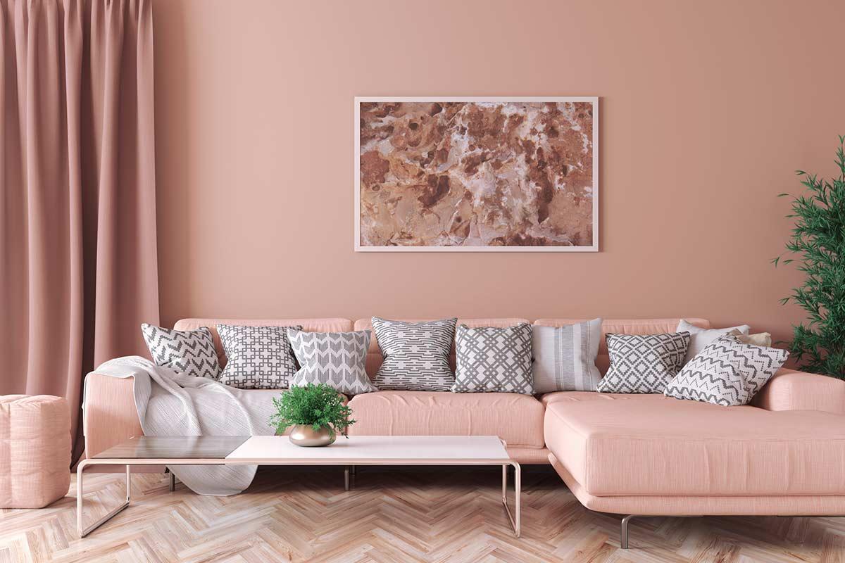 Wohnzimmer-Altrosa-Grau