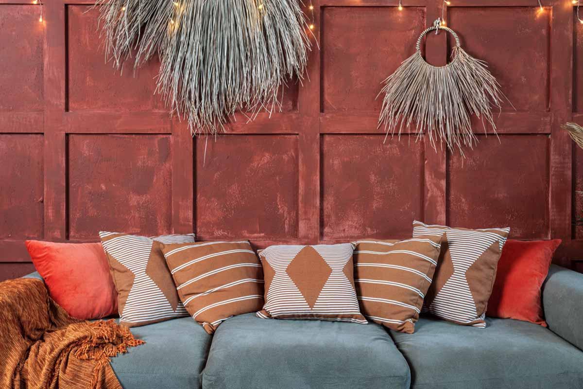 Boho-Style-Wohnzimmer